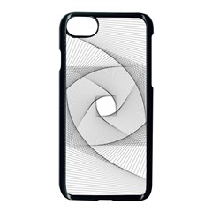 Rotation Rotated Spiral Swirl Apple Iphone 8 Seamless Case (black)