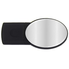 Monochrome Curve Line Pattern Wave Usb Flash Drive Oval (2 Gb) by BangZart