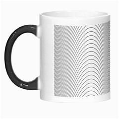 Monochrome Curve Line Pattern Wave Morph Mugs
