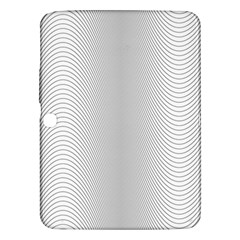 Monochrome Curve Line Pattern Wave Samsung Galaxy Tab 3 (10 1 ) P5200 Hardshell Case