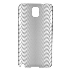 Monochrome Curve Line Pattern Wave Samsung Galaxy Note 3 N9005 Hardshell Case by BangZart