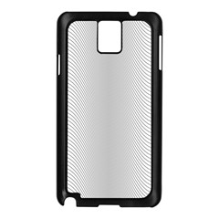 Monochrome Curve Line Pattern Wave Samsung Galaxy Note 3 N9005 Case (black)