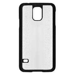 Monochrome Curve Line Pattern Wave Samsung Galaxy S5 Case (black) by BangZart