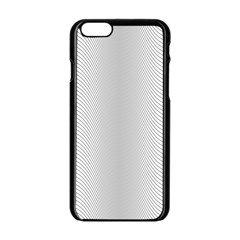 Monochrome Curve Line Pattern Wave Apple Iphone 6/6s Black Enamel Case