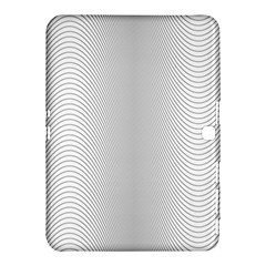 Monochrome Curve Line Pattern Wave Samsung Galaxy Tab 4 (10 1 ) Hardshell Case