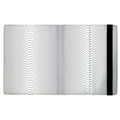 Monochrome Curve Line Pattern Wave Apple Ipad Pro 12 9   Flip Case by BangZart