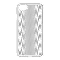 Monochrome Curve Line Pattern Wave Apple Iphone 7 Seamless Case (white)