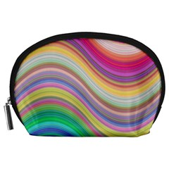 Wave Background Happy Design Accessory Pouches (large)