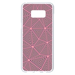 Triangle Background Abstract Samsung Galaxy S8 Plus White Seamless Case