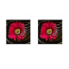 Fantasy Flower Fractal Blossom Cufflinks (square) by BangZart