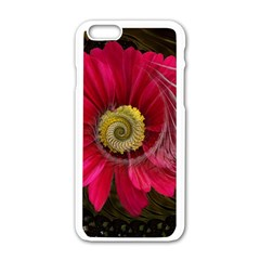 Fantasy Flower Fractal Blossom Apple Iphone 6/6s White Enamel Case by BangZart