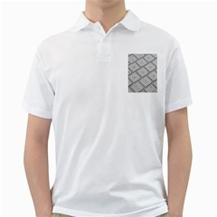 Keyboard Letters Key Print White Golf Shirts by BangZart