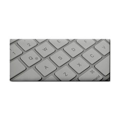 Keyboard Letters Key Print White Cosmetic Storage Cases by BangZart