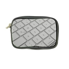 Keyboard Letters Key Print White Coin Purse