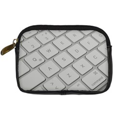Keyboard Letters Key Print White Digital Camera Cases