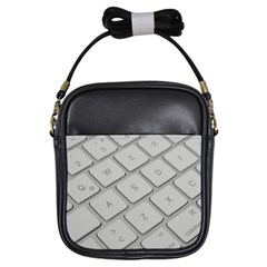 Keyboard Letters Key Print White Girls Sling Bags by BangZart