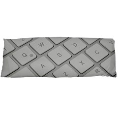 Keyboard Letters Key Print White Body Pillow Case (dakimakura)