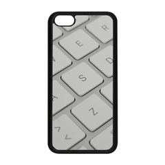 Keyboard Letters Key Print White Apple Iphone 5c Seamless Case (black) by BangZart