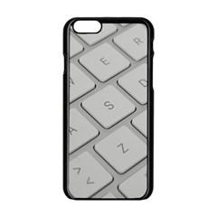 Keyboard Letters Key Print White Apple Iphone 6/6s Black Enamel Case by BangZart