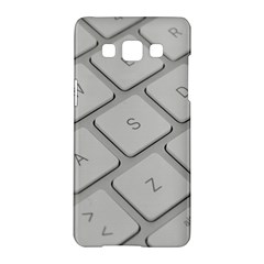Keyboard Letters Key Print White Samsung Galaxy A5 Hardshell Case