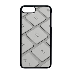 Keyboard Letters Key Print White Apple Iphone 8 Plus Seamless Case (black)