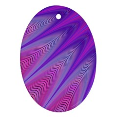 Purple Star Sun Sunshine Fractal Ornament (oval) by BangZart