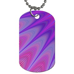 Purple Star Sun Sunshine Fractal Dog Tag (two Sides) by BangZart
