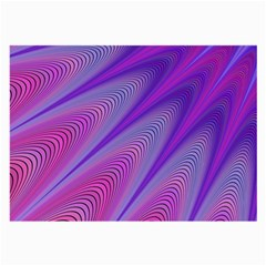 Purple Star Sun Sunshine Fractal Large Glasses Cloth (2 Side) by BangZart