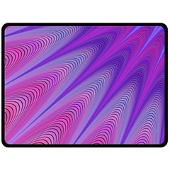 Purple Star Sun Sunshine Fractal Double Sided Fleece Blanket (large)