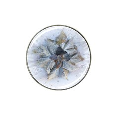 Winter Frost Ice Sheet Leaves Hat Clip Ball Marker (4 Pack) by BangZart