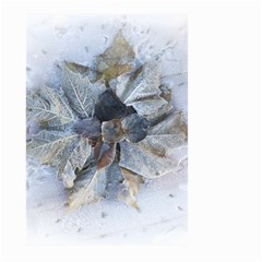 Winter Frost Ice Sheet Leaves Large Garden Flag (two Sides) by BangZart
