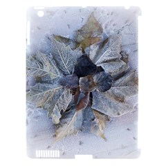 Winter Frost Ice Sheet Leaves Apple Ipad 3/4 Hardshell Case (compatible With Smart Cover) by BangZart