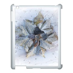 Winter Frost Ice Sheet Leaves Apple Ipad 3/4 Case (white) by BangZart