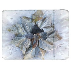 Winter Frost Ice Sheet Leaves Samsung Galaxy Tab 7  P1000 Flip Case by BangZart
