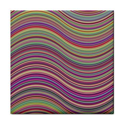 Wave Abstract Happy Background Tile Coasters