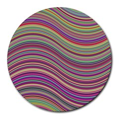 Wave Abstract Happy Background Round Mousepads