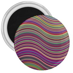 Wave Abstract Happy Background 3  Magnets