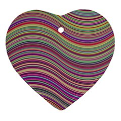 Wave Abstract Happy Background Ornament (Heart)
