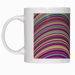 Wave Abstract Happy Background White Mugs