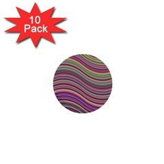 Wave Abstract Happy Background 1  Mini Buttons (10 pack)