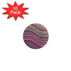 Wave Abstract Happy Background 1  Mini Magnet (10 pack)