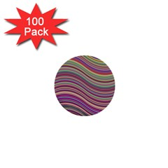 Wave Abstract Happy Background 1  Mini Buttons (100 pack)