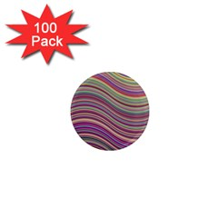 Wave Abstract Happy Background 1  Mini Magnets (100 pack)