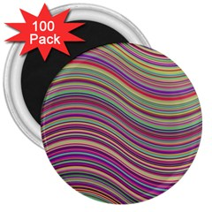 Wave Abstract Happy Background 3  Magnets (100 pack)