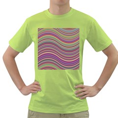 Wave Abstract Happy Background Green T-Shirt