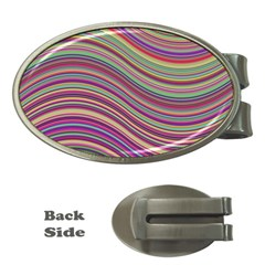 Wave Abstract Happy Background Money Clips (Oval)