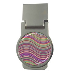 Wave Abstract Happy Background Money Clips (Round)