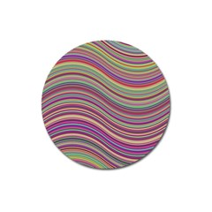 Wave Abstract Happy Background Magnet 3  (Round)