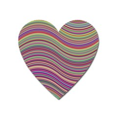 Wave Abstract Happy Background Heart Magnet