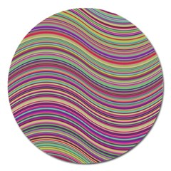Wave Abstract Happy Background Magnet 5  (Round)